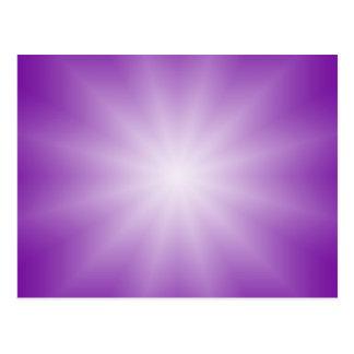 ONLY COLOR gradients - purple Star Postcard