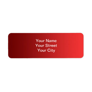 ONLY COLOR gradients - red love Return Address Label