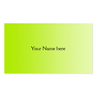 ONLY COLOR gradients - spring green Business Card