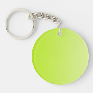 ONLY COLOR gradients - spring green Double-Sided Round Acrylic Key Ring