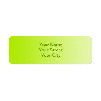 ONLY COLOR gradients - spring green Return Address Label