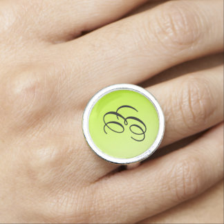 ONLY COLOR gradients spring green + your monogram