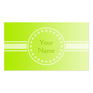 ONLY COLOR gradients - spring green + your text Business Card Templates