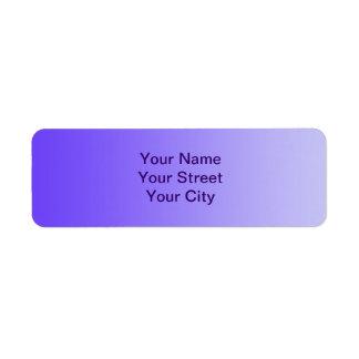 ONLY COLOR gradients - violet Return Address Label