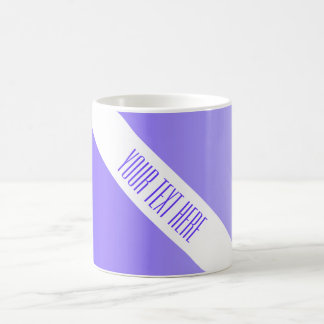 ONLY COLOR gradients violet + your text Coffee Mug