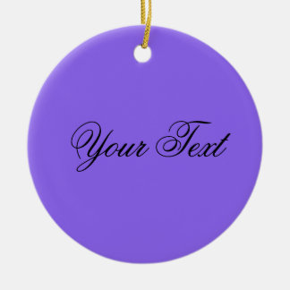 ONLY COLOR / lila + your text Christmas Ornament