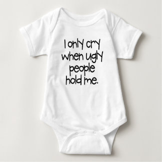 Only Cry When... Baby Bodysuit