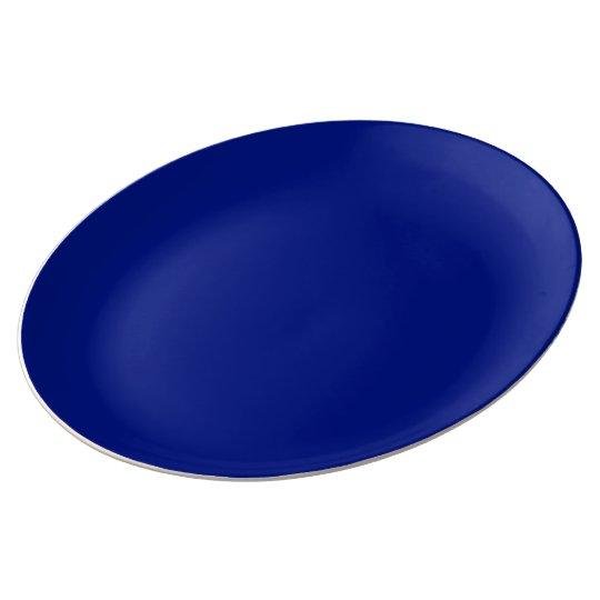 Only dark blue elegant solid colour OSCB33 Plate