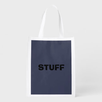 Only dark blue gray livid solid color background reusable grocery bag