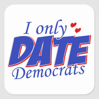 Only date Democrats Stickers