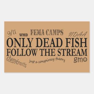 only dead rectangular sticker