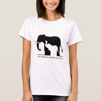 Only Elephants Should Wear Ivory (White Ver.) T-Shirt