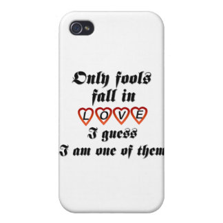 Only fools fall in love iPhone 4 cover