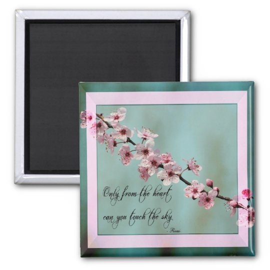 Only From the Heart Floral Square Magnet