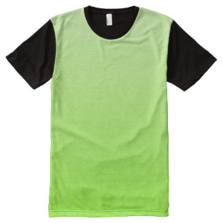 Only Gradients Color - neon green + your idea All-Over Print T-Shirt