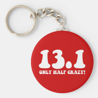 only half crazy key ring