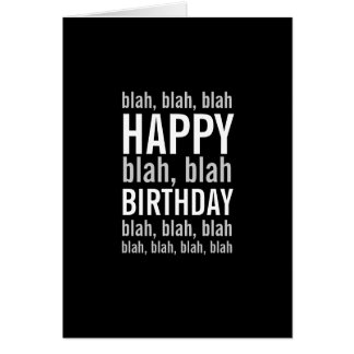 Only Here for the Cake Funny Happy Birthday Card