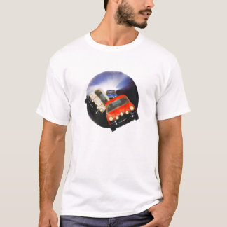 only in a mini T-Shirt