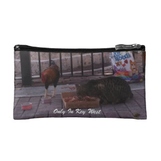 """""""Only In Key West"""" Cat & Rooster Cosmetic Bag"""