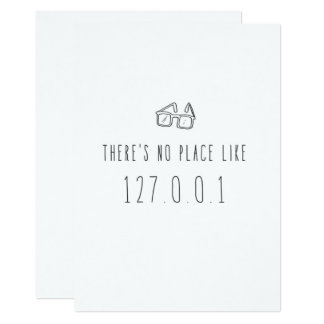 Only in Silicon Valley Greeting Card: 127.0.0.1 Card