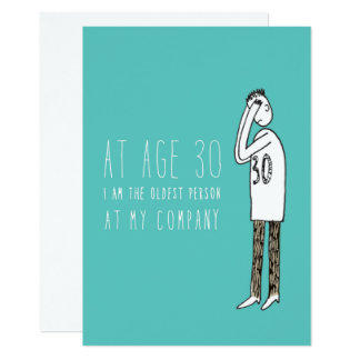 Only in Silicon Valley Greeting Card: 30 Years Old 13 Cm X 18 Cm Invitation Card