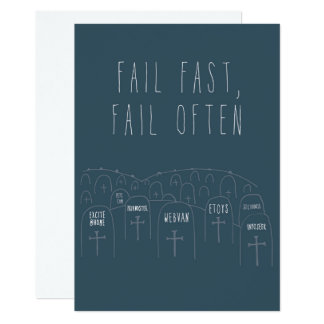 Only in Silicon Valley Greeting Card: Fail Fast Card