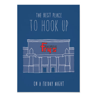 Only in Silicon Valley Greeting Card: Friday Night 13 Cm X 18 Cm Invitation Card