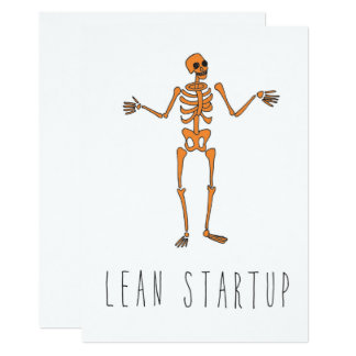 Only in Silicon Valley Greeting Card: Lean Startup 13 Cm X 18 Cm Invitation Card
