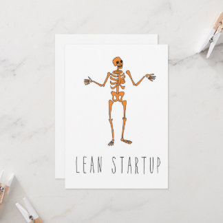 Only in Silicon Valley Greeting Card: Lean Startup Card