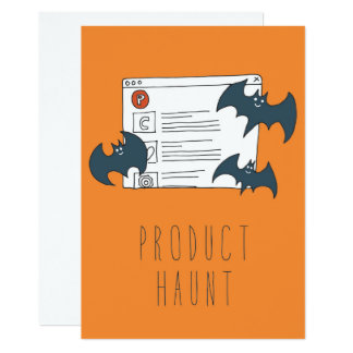 Only in Silicon Valley Greeting Card: ProductHaunt Card
