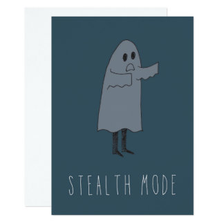 Only in Silicon Valley Greeting Card: Stealth 13 Cm X 18 Cm Invitation Card