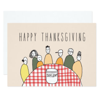 Only in Silicon Valley Greeting Card: Thanksgiving 13 Cm X 18 Cm Invitation Card