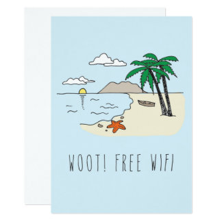 Only in Silicon Valley Greeting Card: Vacation Card