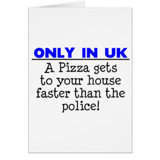 Only in The Uk - Funny Saying / Quote Card
