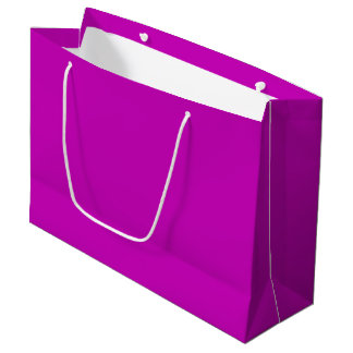 Only magenta pink cool solid color background large gift bag