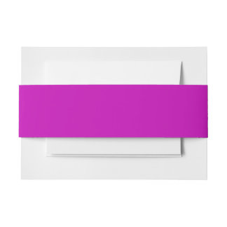 Only magenta pink cool solid color background invitation belly band