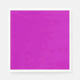 Only magenta pink cool solid color background disposable napkin