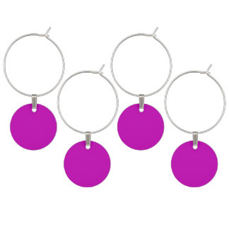 Only magenta pink cool solid color background wine charm
