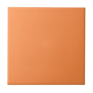 Only melon orange pretty solid color background small square tile