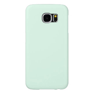 Only mint green pretty pastel solid color OSCB12 Samsung Galaxy S6 Cases
