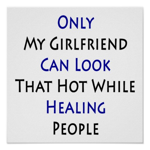 Only My Girlfriend Can Look That Hot While Healing Poster