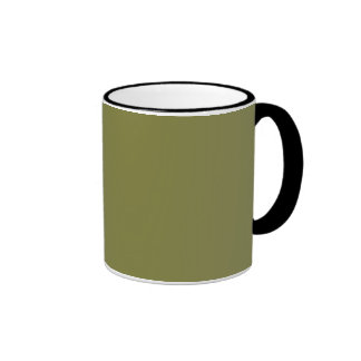 Only Olive green solid color customizable mugs