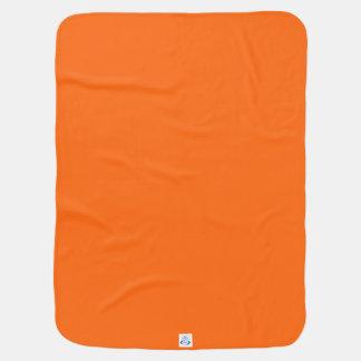 Only orange solid color swaddle blankets