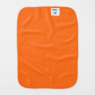 Only orange solid color baby burp cloth