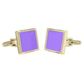 Only orchid solid color gold finish cufflinks