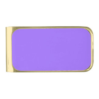 Only orchid solid color gold finish money clip