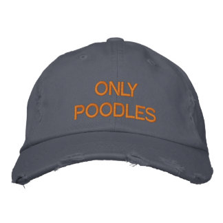 ONLY POODLES EMBROIDERED HATS