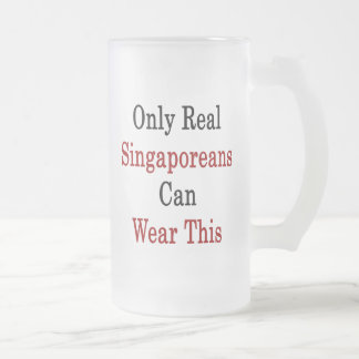 Only Real Singaporeans Can Wear This 16 Oz Frosted Glass Beer Mug