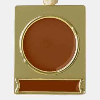 Only red rust solid cool color background gold plated banner ornament