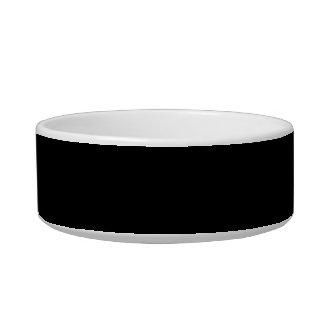 Only Solid Color Black Cat Food Bowls